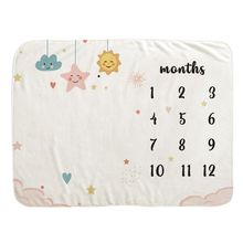 Baby Monthly Record Growth Milestone Blanket