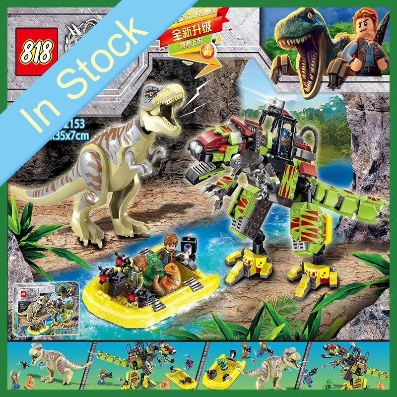 75938 Lego Jurassic World T-Rex Dino Mech Conjunto de Construcción de batalla vs