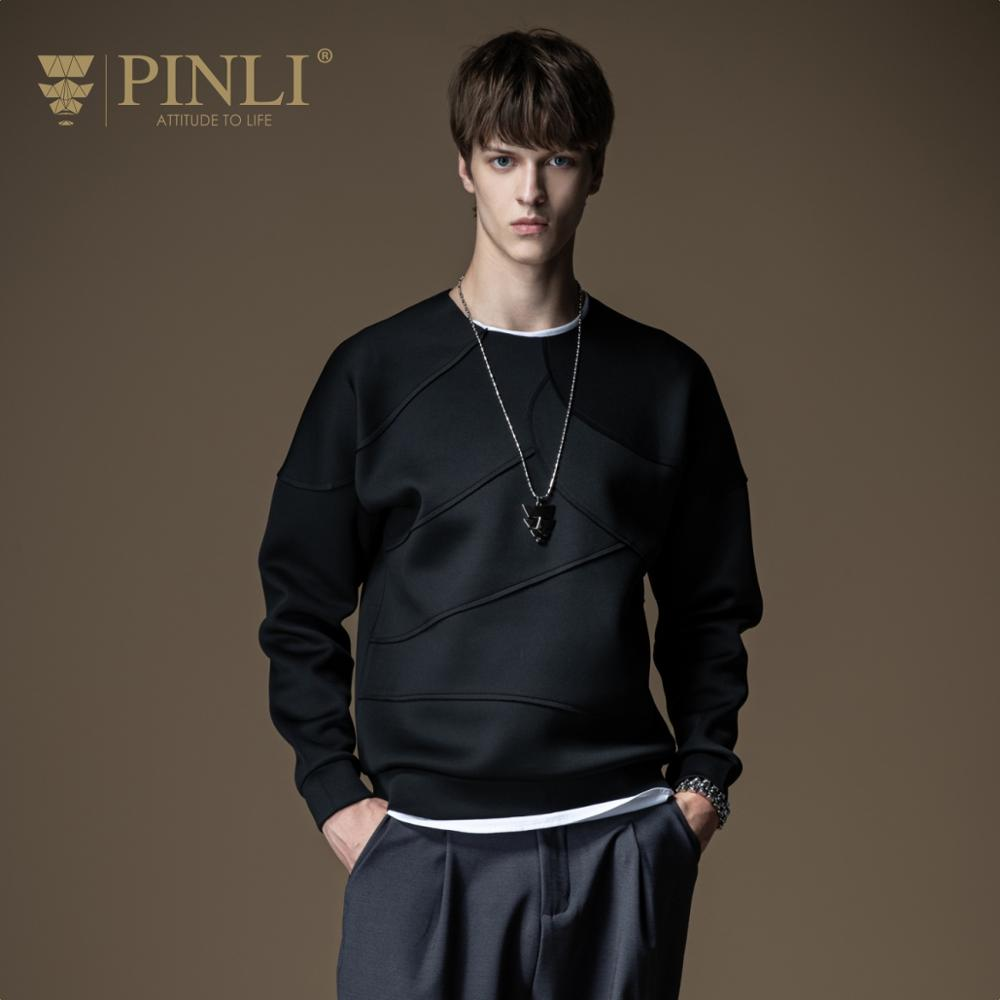 Pinli 2020 Autumn New O-neck Slim Original Design Solid Crease Polyester Youth Fashion Casual Men Sweater Coat Sale B201109063  1