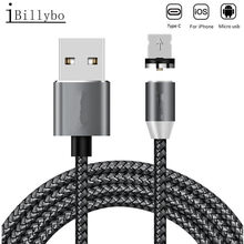 1M LED Magnetic USB Cable for iPhone Xs Max 8 7 6 & USB Type C Cable & Micro USB Cable for Oppo F7 K1 Samsung galaxy A3 A5 A7(China)