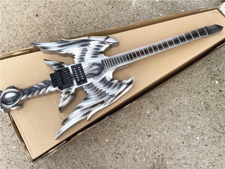 anjo lâmina asas espada guitarra elétrica frete grátis