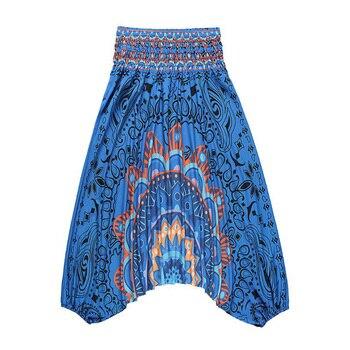 Retro Women Wide-leg Pants Ethnic Style Printed Loose Comfortable Baggy Fashion Bohemian Versatile One Size