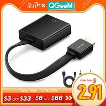 QGeeM Adaptador de HDMI a VGA Digital a analógico, Cable convertidor de Audio de vídeo, conector HDMI VGA para Xbox 360, PS4, PC, portátil, TV Box