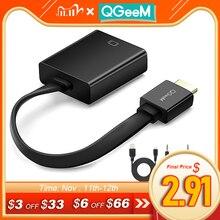 Qgeem hdmi vgaアダプタデジタルアナログビデオオーディオ変換ケーブルhdmi vgaコネクタxbox 360 PS4 pcラップトップtvボックス
