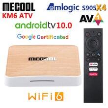 Mecool KM6 ATV Amlogic S905X4 AV1 akıllı Android 10.0 TV kutusu 4GB RAM 64GB ROM 2.4G 5G WiFi Bluetooth 4K HD Set Top Box 2GB 16GB