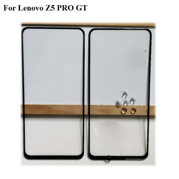 2 pçs para lenovo z5 pro z5pro gt frente exterior lente de vidro da tela toque exterior vidro sem cabo flexível para lenovo z5 pro gt gt855