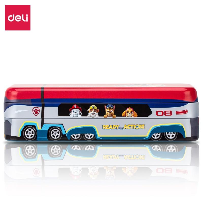 Deli Kawaii Pencil Case Cute Cartoon Bus Paw Patrol Pencil Box Student Gift Multifunctional Stationery Storage School Supplies