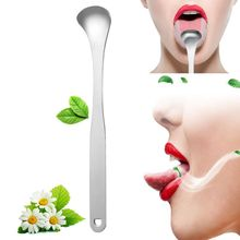 Health Tool New Hot Sale Tongue Cleaner Scraper Stainless Steel Oral Hygiene Bad Breath Care