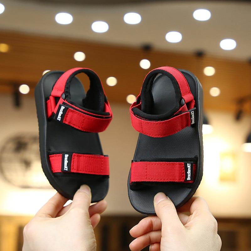 SKHEK Boys Girls Sandals Shoes For Children Gladiator Glitter PU Leather Beach School Shoes 2017 New Roman Sandals Girl Boy