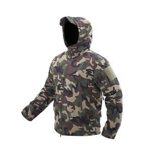 Image 5 - Lurker 상어 피부 Softshell V5 군사 전술 재킷 남자 방수 코트 위장 후드 군대 카모 의류