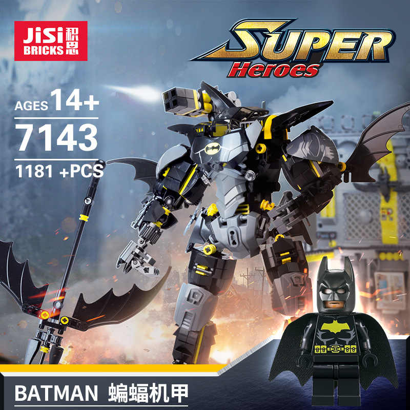 Decool 7143 Film Batman Batman Armor Foundation Basis Batu Bata Sosok Model Bangunan Blok Mainan Kompatibel Legoed Batman 70901