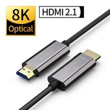 Оптический HDMI кабель 2,1 8K Dolby Vision 60 Гц 4K HDR 4:4:4 ARC 48Gbs Ultra HD (UHD) Аудио Ethernet шнур без потерь MOSHOU усилитель