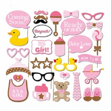 30 pcs/set Baby Shower Photo Booth Props It's A Boy Baby Shower 1st Birthday Party Decoration Centerpieces 10pcs diy photo frame wooden clip paper picture holder wall decoration for wedding baby shower birthday party photo booth props
