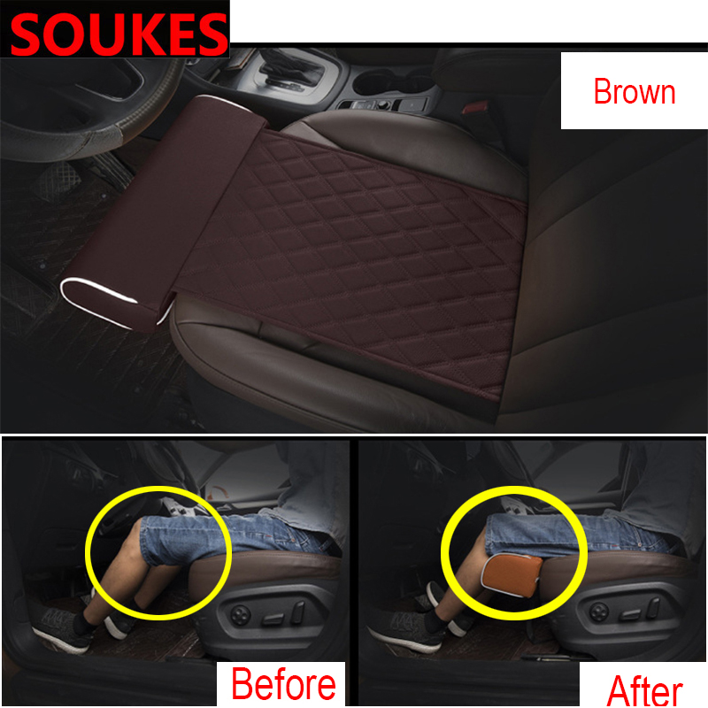 Extended Car Comfortable Seat Cushion For Hyundai IX35 Suzuki Lifan X60 Renault Mitsubishi ASX Jeep Acura non slide Protector