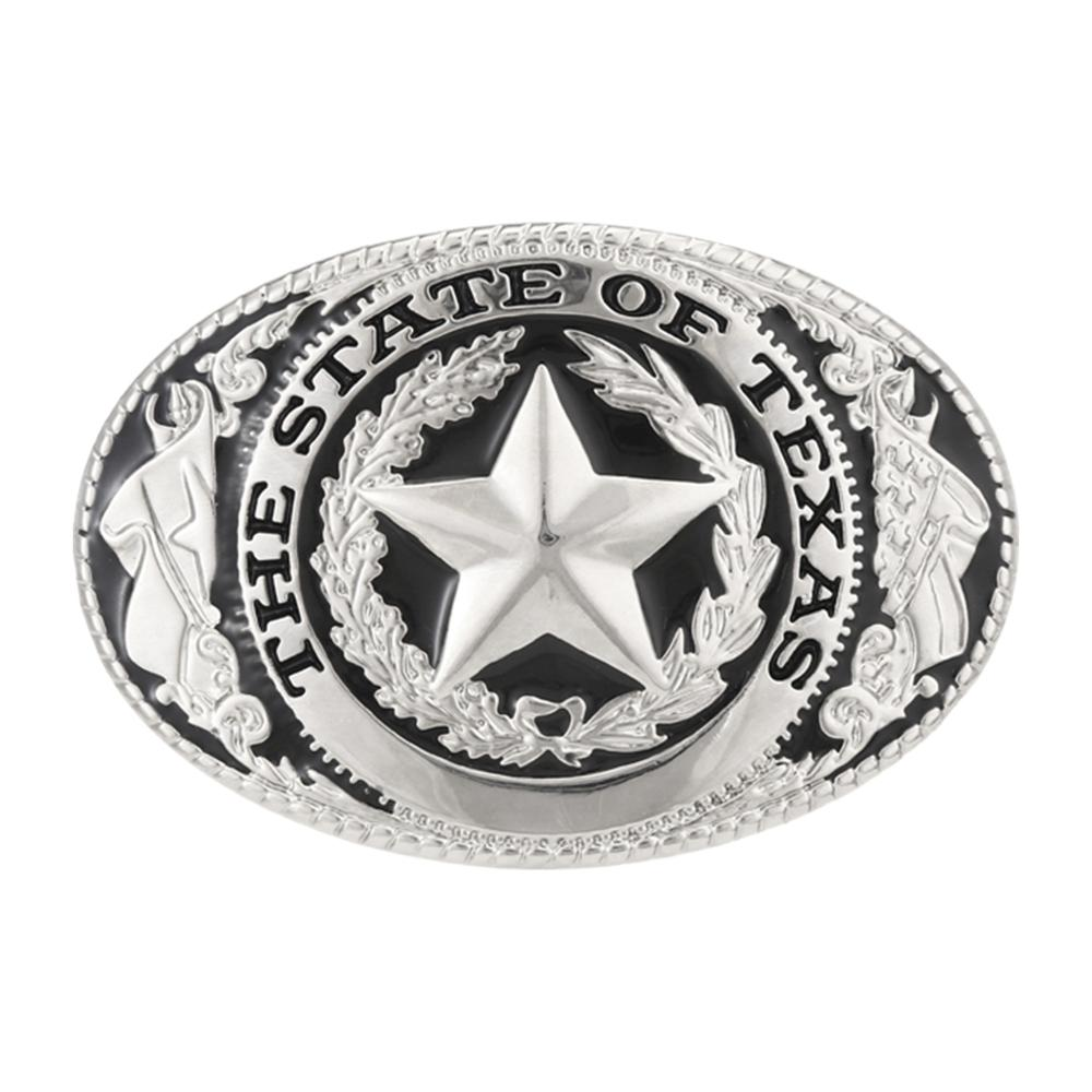 Silver Retro Western Cowboy Five-star Belt Buckle, Suitable For 4CM Wide Belt Men's Jeans Accessories