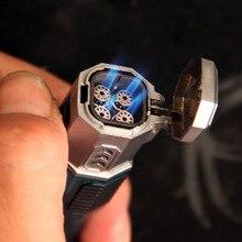 Originality Windbreak Straight 4 Nozzle Lighter Personality Cigar Light