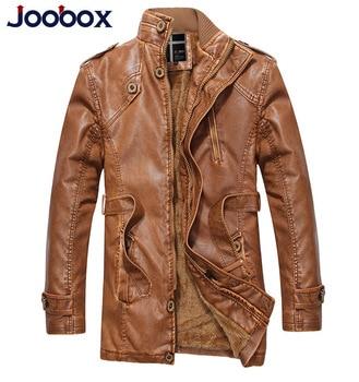 New Fashion Winter Motorcycle Leather Jacket Men's Clothing Wool Warm Mens Pu Sashes Leather Jackets Men Coats Biker Jacket Male