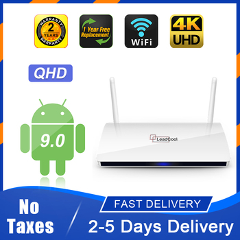QHD android TV box Leadcool Smart TV box Amlogic S905W Quad- Core 1G8G 2G16G 2.4Gwifi QHD 4K VP9 H.265 Android 9.0 Smart TV box