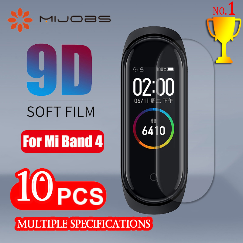 For Xiaomi Mi Band 4 Screen Protector Soft Film For Xiaomi Mi Band 4 Smart Bracelet Accessories Full Screen Permeability Film