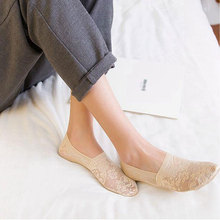 New Lady Casual Breathable Ankle Boat Socks Girls Fashion Invisible Non-slip Cotton Women Low Cut Candy Color