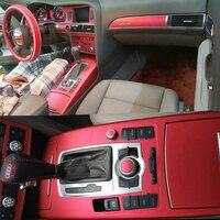 Car Styling 3D/5D Carbon Fiber Car Interior Center Console Color Change Molding Sticker Decals For Audi A6 C6 C7 2005 2018