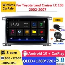 6G RAM 2 din android 10 autoradio autoradio per Toyota Land Cruiser LC 100 2002 06 2007 navigazione GPS DVD lettore multimediale