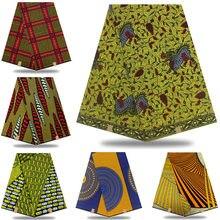 Ancara africano 100% algodão verdadeiro ancara cera imprime tecido gana cera de alta qualidade real nigéria tecido 6 jardas xe025