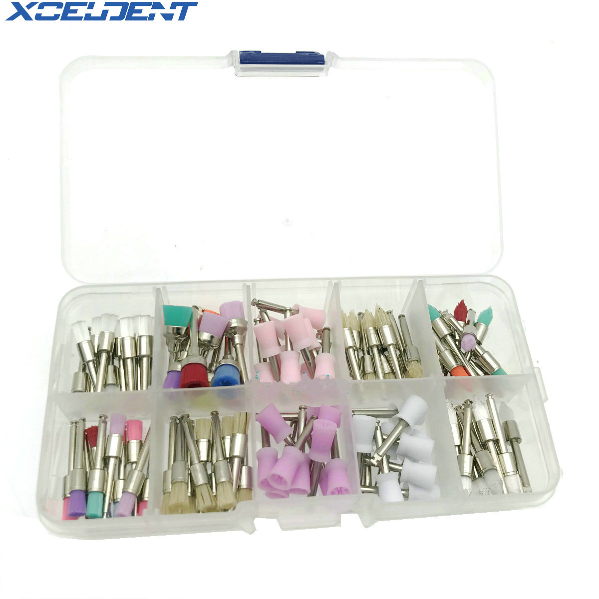 10 Mixed Types Dental Disposable Polishing Cup Dentistry Prophy Brush 100 PCS/Set Dentist Tool Lab Material
