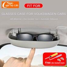 New Style Car Sunglasses Holder Case for Volkswagen VW Golf 8 MK8 Golf8 2019 2020 2021 Accessories Sun Glasses Storage Box