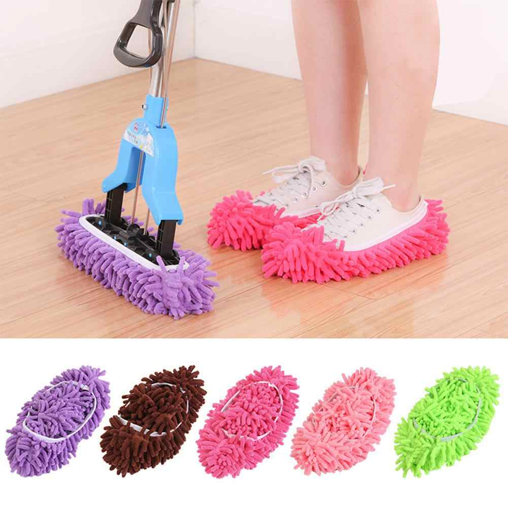 1 Pair Soft House Floor Mopping Cleaning Slipper Shoes Cover Mop Dust Cleaner