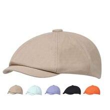 Cotton Outdoor Hat Leisure Men's Berets Women Caps Solid Color Brim Sun Visor