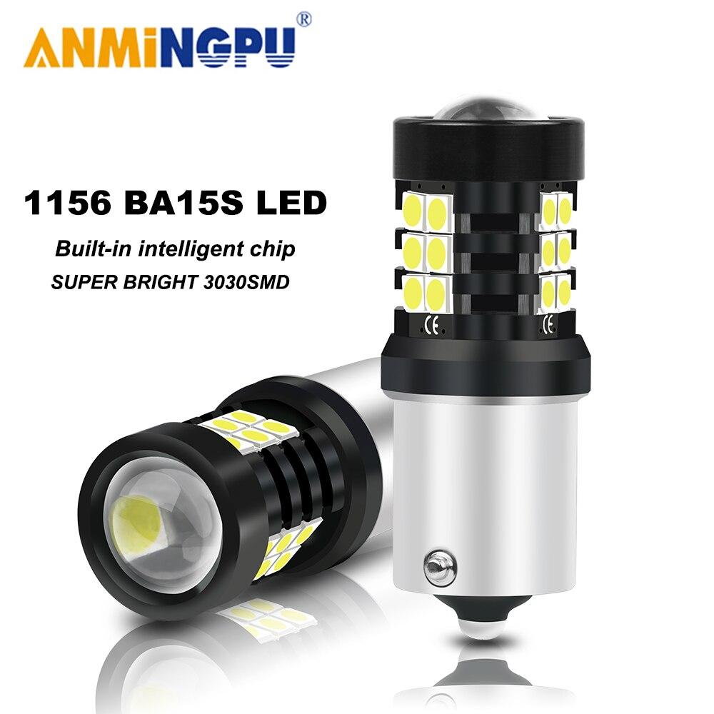 ANMINGPU 2X сигнальная лампа 1156 BA15S P21W Led PY21W BAU15S R5W 3030SMD BAY15D Led 1157 P21/5W Canbus сигнал поворота, светильник п светильник