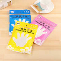 100pcsTransparent Disposable Gloves One-off Plastic Gloves Cleaning Eco-friendly Gloves For DIY Kitchen And Kitchen Accessories