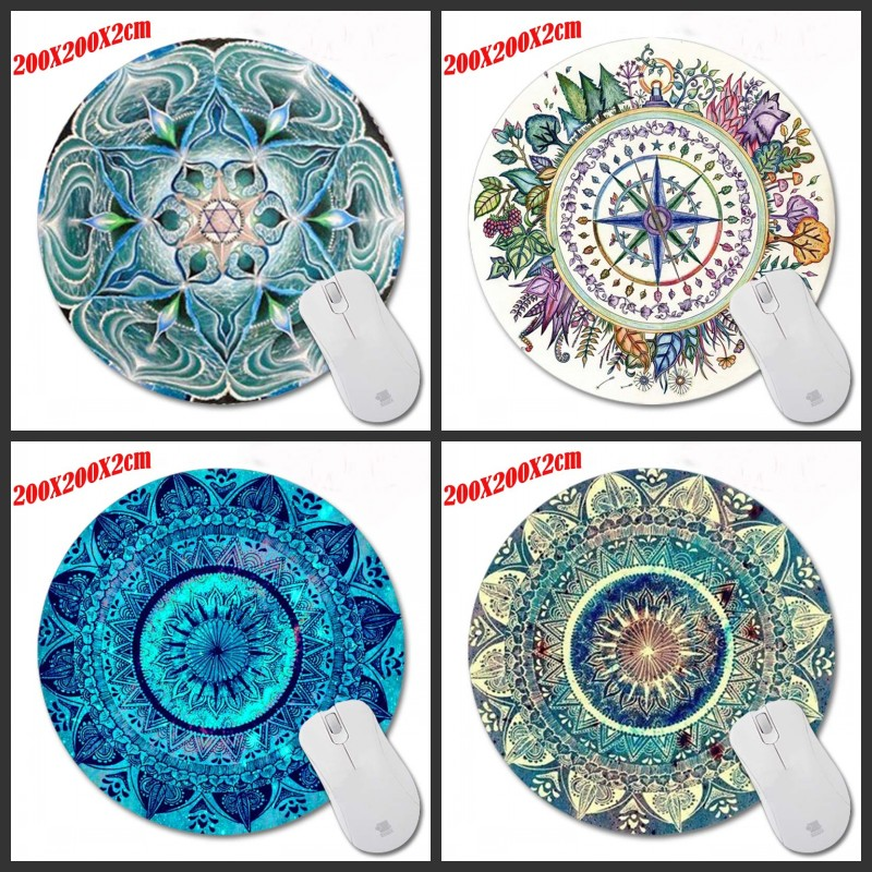 DIY Carpet 200*200*2mm Top Selling Customized  Non-Slip Rubber 3D Printing Gaming  Durable Notebook Round Mouse Pad