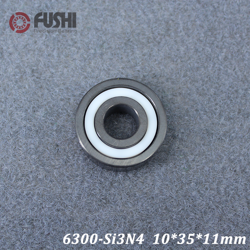 6300 Full Ceramic Bearing ( 1 PC ) 10*35*11 mm Si3N4 Material 6300CE All Silicon Nitride Ceramic Ball Bearings