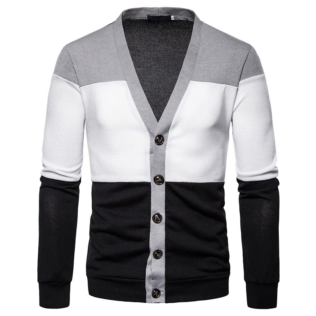 Casual Men's Sweater Multi-style Multi-collar Striped Slim Knittwear Mens Sweaters Pullovers Multi-cloth Pullover Men S-2XL