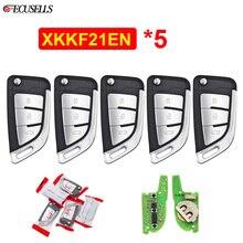 5 Teile/los XKKF21EN 3 Tasten Klapp Flip Remote Xhorse VVDI Remote Draht Remote Key für VVDI Schlüssel Werkzeug