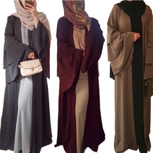 Dress Women Dubai-Robe Abayas Islamic Muslim Chiffon Sleeve Elegant Long New-Fashion