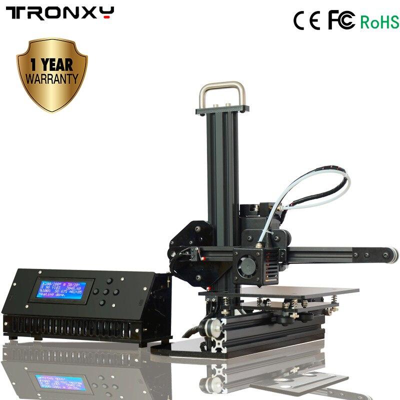 TRONXY X1 imprimante 3D I3 impresora poulie Version Guide linéaire imprimante 3d imprimante bricolage deux buse en cadeau