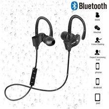 Draadloze Bluetooth Koptelefoon Sport Oordopjes Stereo Headset Met Microfoon Oorhaakje Oorhaak Hoofdtelefoon Handsfree Oortelefoon Voor Smartphones