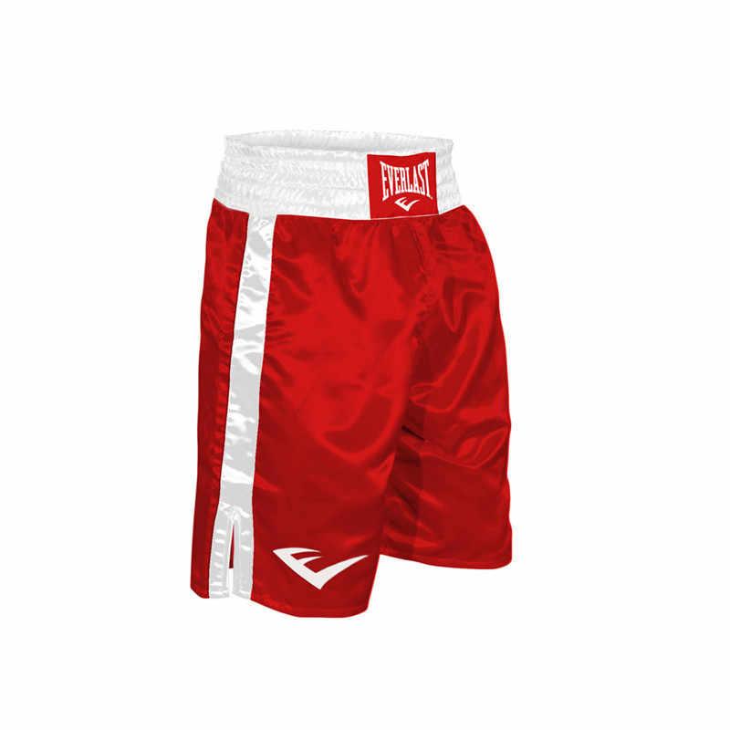 ผู้ใหญ่ยาวเข่ามวยกางเกงขาสั้นผู้ชายและผู้หญิง Juvenile Sanda กางเกงขาสั้นการฝึกอบรมเกมมวยกีฬากางเกงขาสั้น