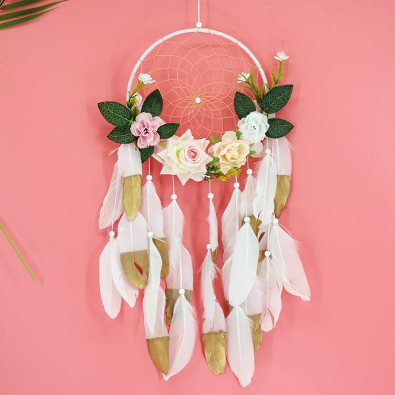 Tassel Catching Monternet  Red Dream Catcher Creative Feathers Home Pendant Decoration Wedding For Decor