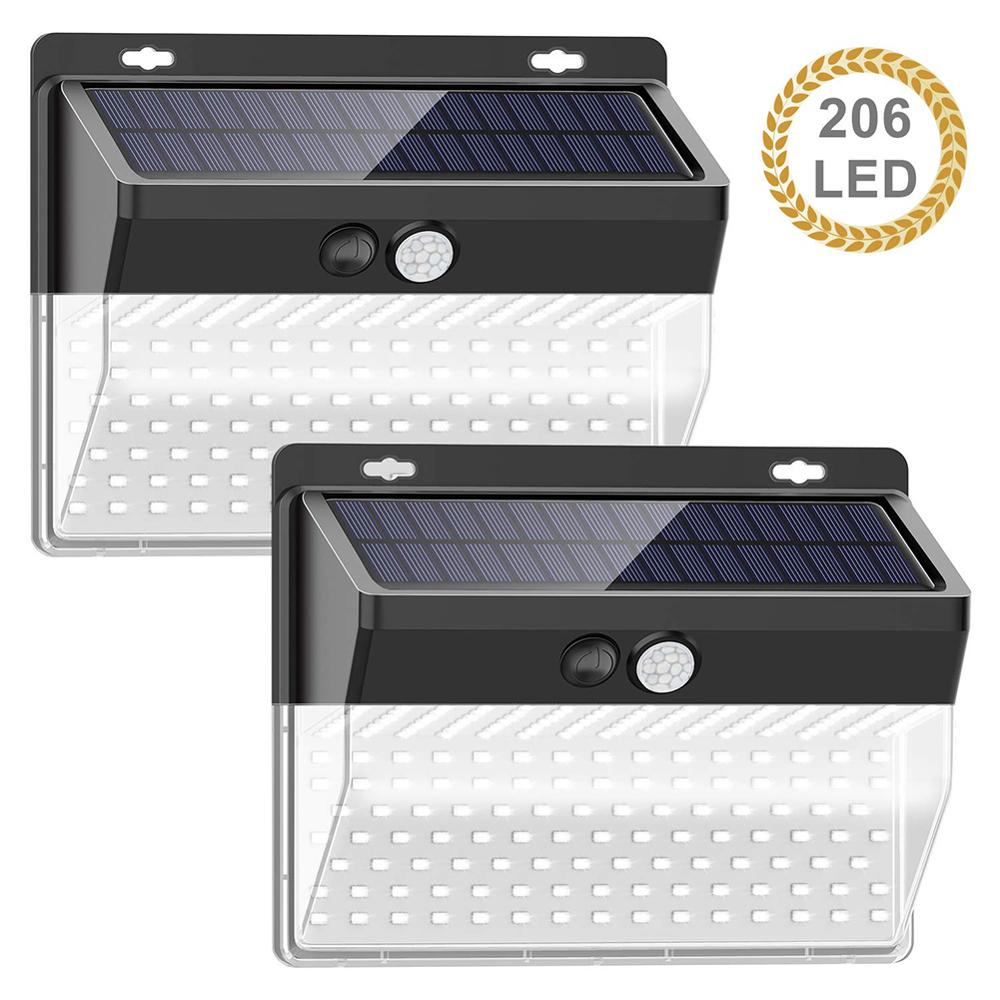 Solar Power Outdoor Wall Light Motion Sensor Waterproof Garden Street Lamp Luminaria Energy-saving Fence Security Solar Light