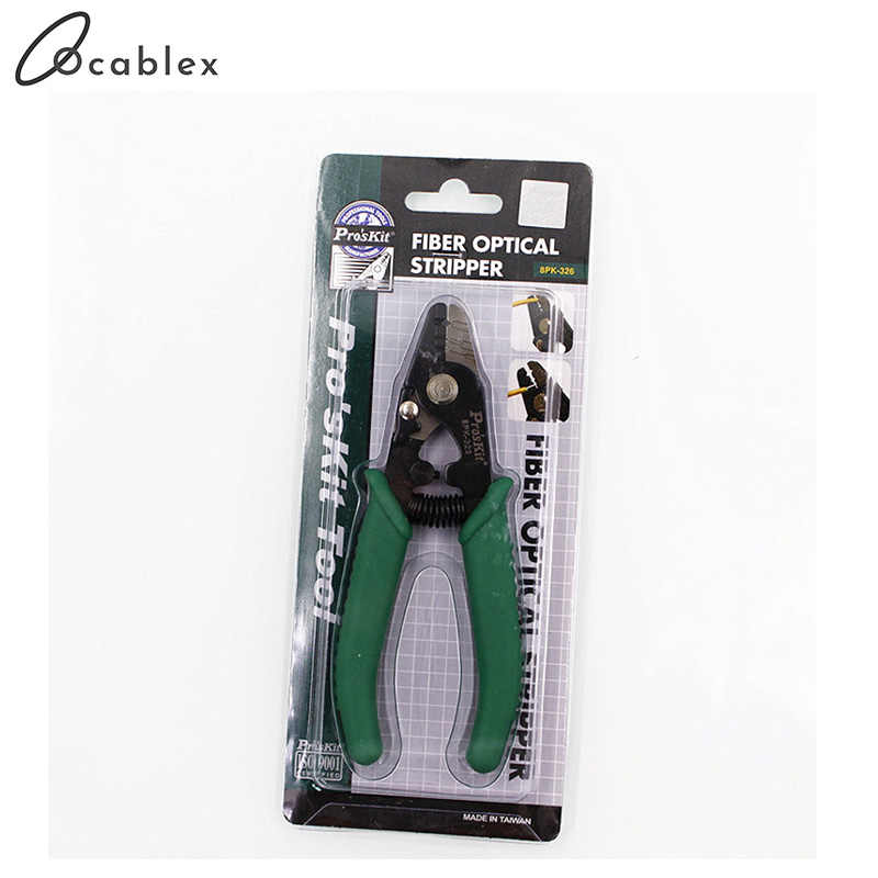 Quality Assurance ProsKit 3 Holes 8PK-326 Fiber Optical Stripper Stripping Cable Tool Made in Taiwan