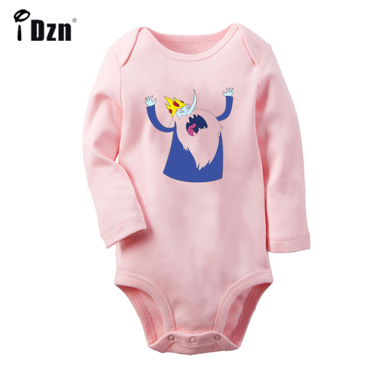 Adventure Time The Ice King Flame Princess Design Newborn Baby Bodysuit Toddler Long Sleeve Onesies Jumpsuit Cotton Clothes Gift