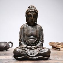 Sitting Buddha Home Garden Statue Model Figure Ornament Sculpture Decoration