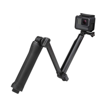 3 Way Grip Waterproof Monopod Selfie Stick Tripod Stand for GoPro Hero 7 6 5 4 Session for Yi 4K Sjcam Eken for Go Pro Accessory portable hand grip waterproof selfie stick pole tripod for gopro hero 7 6 5 4 sjcam eken yi 4k dji osmo action camera accessory