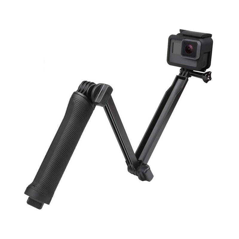 3 voies poignée étanche monopode Selfie bâton trépied support pour GoPro Hero 7 6 5 4 Session pour Yi 4K Sjcam Eken pour Go Pro accessoire