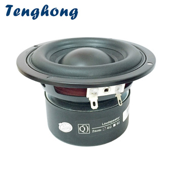 Tenghong 1pcs 4 Inch Woofer Subwoofer Speaker Unit 4/8 Ohm 40W Audio Multimedia Speaker Deep Bass Loudspeaker Large Magnetic DIY 1pc subwoofer crossover frequency speaker divider 300w bass woofer crossover audio speaker board for passive subwoofer speaker