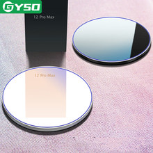 GYSO 20W hızlı Qi kablosuz şarj pedi iPhone 12 11 Pro 8 X XS Samsung S10 S9 not 8 9 kablosuz şarj hızlı şarj adaptörü